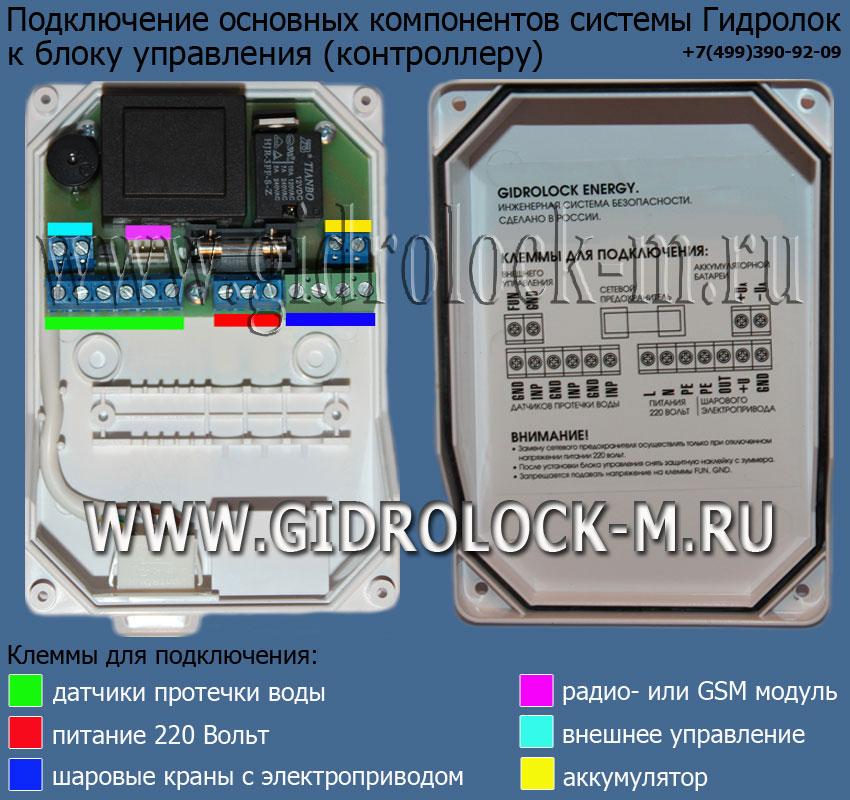 Gidrolock radio схема